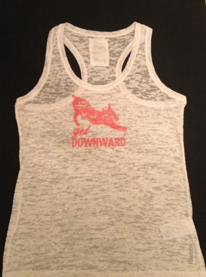 Get downward white racerback vest cotton polyester